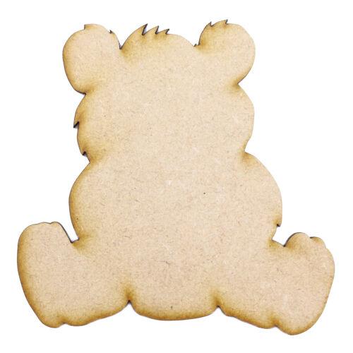 3mm MDF Laser Cut Craft Blank Scrapbook Card Topper Embellishment Shape Teddy