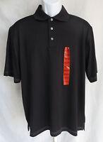 Pebble Beach Performance Mens Size M Short Sleeve Black Polo Shirt Top
