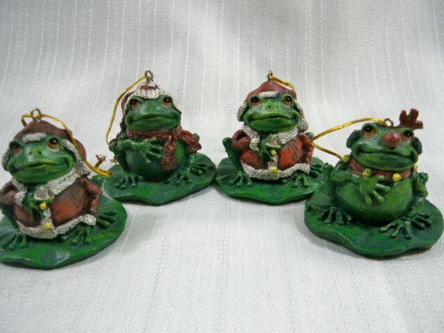 4 Frogs Christmas Tree Ornaments | eBay
