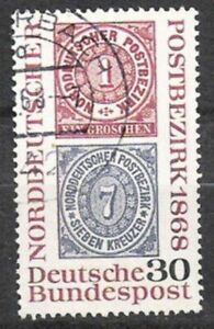 Bund Nº 569 100 Ans Norddeutscher Teodoro 1968, Estampillé-afficher Le Titre D'origine Demande DéPassant L'Offre