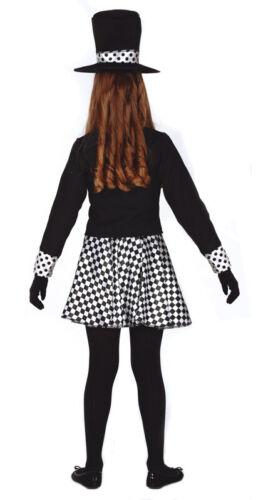Mädchen Alice im Wunderland Kostüm /& Zylinder Verrückter Hutmacher Hare Kostüm