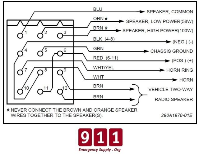 Pa 300 Siren Wiring Chart | Wiring Diagram Federal Signal Pa Siren Wiring Diagram on
