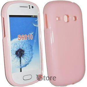 Cover-Custodia-Per-SAMSUNG-Galaxy-Fame-S6810-Rosa-Gel-Silicone-TPU-Pastello