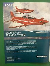 8/2006 PUB AVION PILATUS PC-21 TRAINER SWISS AIRCRAFT FLUGZEUG ORIGINAL ADVERT