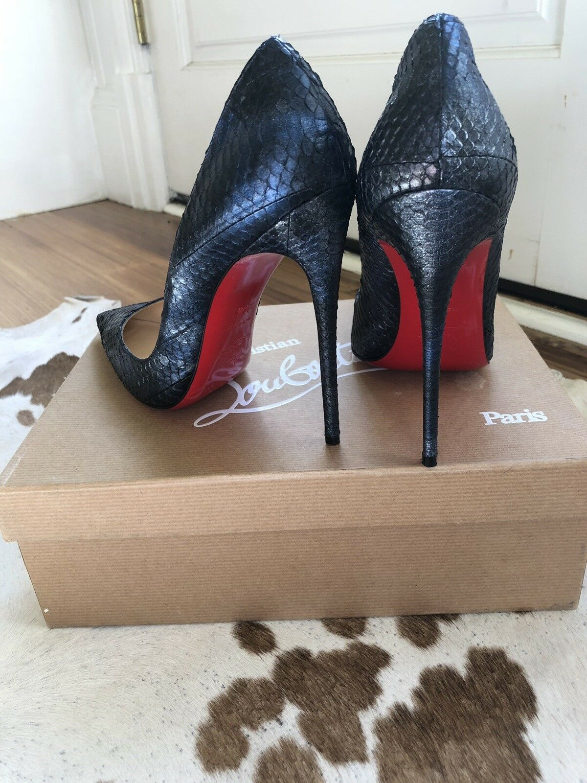 Breathtaking Authentic  1195 So Kate 120 120 120 Watersnake Christian Louboutin Pumps 4c23ca