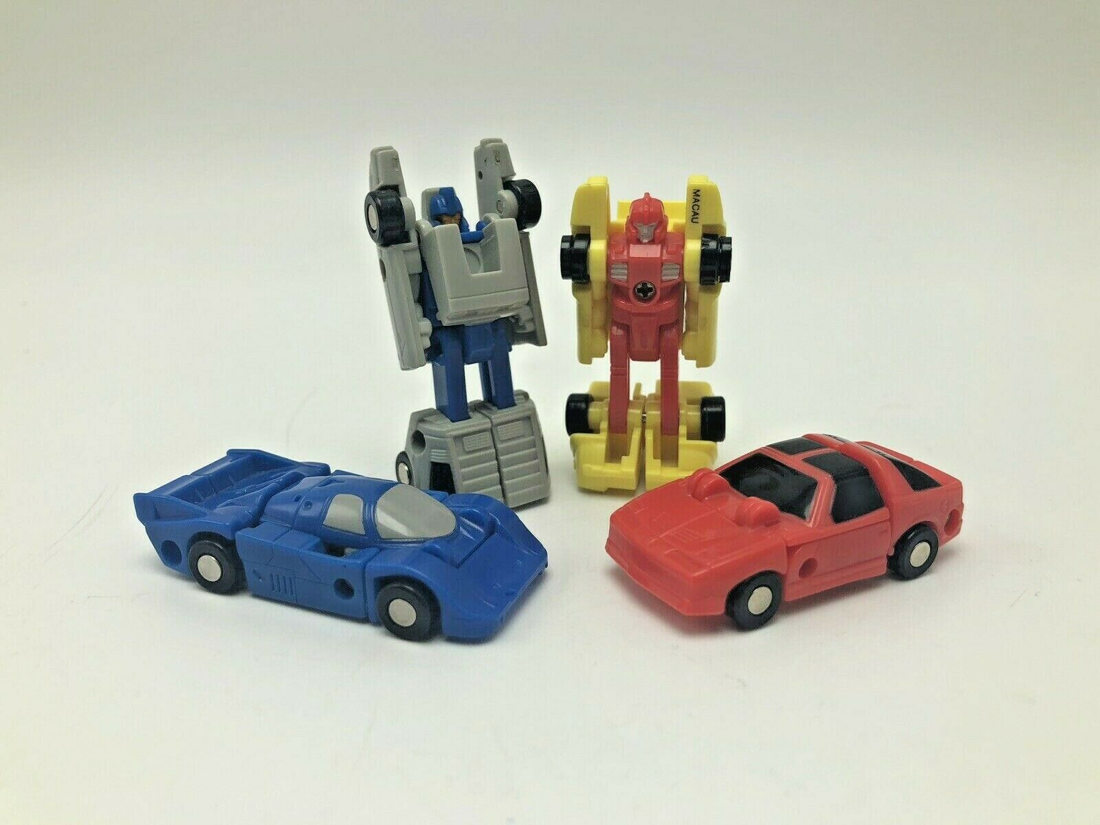 Transformers G1 1988 Mini Micromasters Autobots Lot of 4 Race Cars Delorean