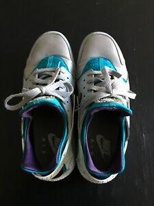 on sale 5d363 8d22c Image is loading Nike-Air-Huarache-Wolf-Grey-Aquatone-Purple-Dynasty-