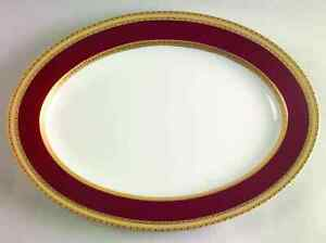 Mikasa-FRENCH-EMBASSY-RED-14-3-8-034-Oval-Serving-Platter-375899