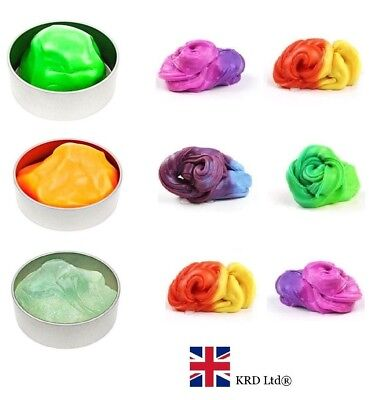 Slime Putty Rainbow Heat Sensitive Colour Change Stress Relief Children Toy Gift