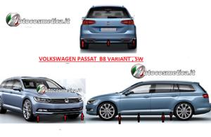 Modanature-VW-PASSAT-B8-2015-gt-acciaio-cromo-paraurti-ant-post-profili-porte