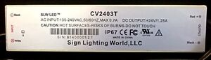 SLW LED® CV2403T 30W//24VDC LED Driver IP67 Waterproof LED Power Supply
