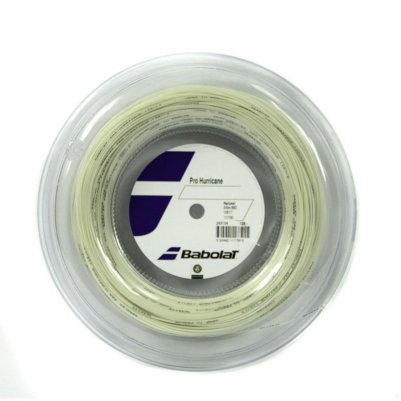 Nuevo  Babolat Pro Hurricane 1.25mm Cadena Carrete tenis natural 17 Aero 200m 660ft.