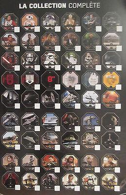 2016 Leclerc Lot de 54 jetons Star Wars Rogue One complet