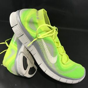 new style online here pre order Details about NIKE FLYKNIT FREE 5.0 Mens Size US 13 47.5  Volt/White-Electric Green-Wolf Grey