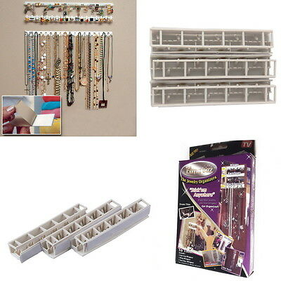 9pcs Adhesive Wall Mount Jewelry Hooks Holder Storage Set Organizer Display LO