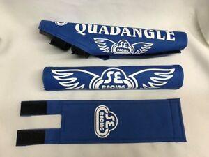 Quadangle Pad Set frame handlebars bar Stem bmx Re Made Black babyblue