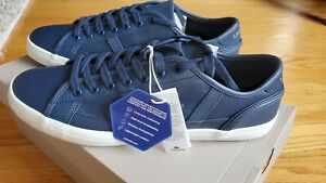 Lacoste-Sideline-419-1-Mens-8-Blue-Low-Top-Sneakers-Shoes-CMA-7-38CMA0047NG5