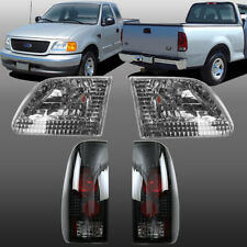 For 1997 2003 Ford F 150 Aftermarket Chrome Headlights Black Tail Lights Fits 1997 Ford F 150