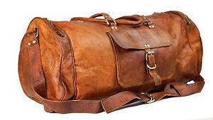 New-Men-genuine-Leather-large-vintage-duffle-travel-gym-weekend-overnight-bag