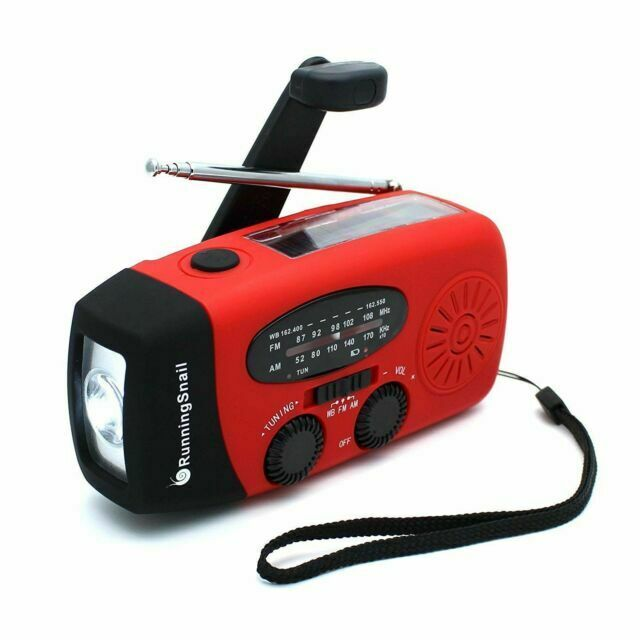 RunningSnail Emergency Hand Crank Self Powered AM/FM NOAA