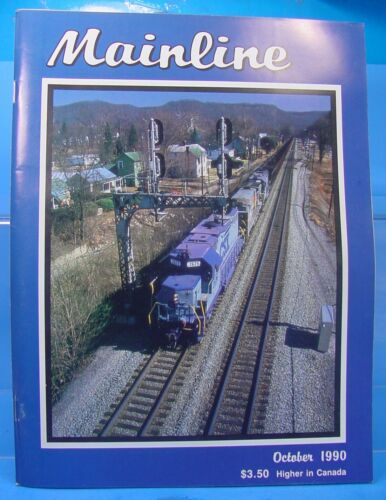 HO,S,N,O SCALE MAINLINE MODELER MAGAZINE OCTOBER 1990 TABLE OF CONTENTS PICTURED