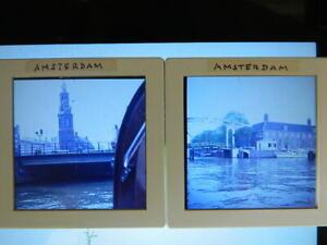 Slides-6x6-Lote-28-Diapositivas-de-Foto-Aficionado-Viaje-Holanda-70-039-s