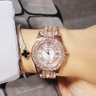 High Quality Stylish Luxury Women`s Rose Gold Studded Diamond Quartz Watches