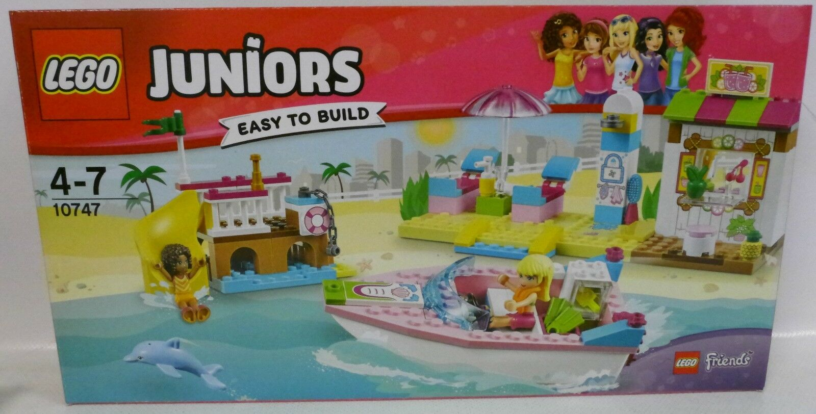 NEU LEGO® JUNIORS 10747 Friends Andreas & Stephanies Strandurlaub OVP