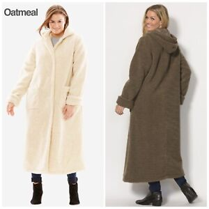 Woman-Within-Duster-Coat-Oatmeal-Size-3X-30-32-4X-34-36-Petite-NEW-140