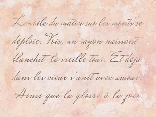 Shabby Chic gabarit avec français vintage Police-Romantique poème