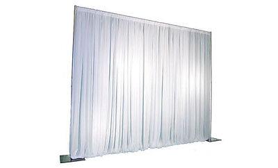 White velveteen drape 3m drop x 5m width 200g/m2- stage exhibiton theatre