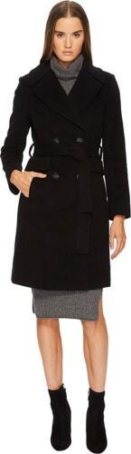 Diane Furstenberg Von Double New Tie Coat Wool 2 Size Black In Waist Breasted dqw1nEpxC