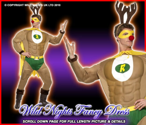 CHRISTMAS FANCY DRESS # GENTS SUPER HERO REINDEER LG