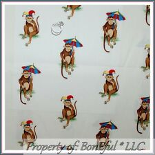BonEful Fabric FQ Cotton Decor Monkey Animal Jungle Safari African Umbrella RARE