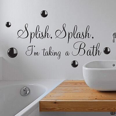 Splish Splash Taking A Bath Bathroom, Bathroom Wall Art Stickers