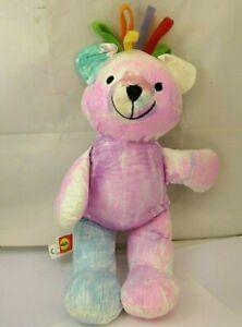 "ALEX 14"" RAINBOW Bear Plush Polyester Fiber 2006 colorful - USED"