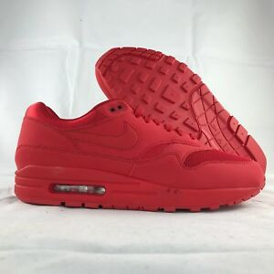 f867b69782 Nike Air Max 1 One Premium Tonal Pack Triple Red 875844-600 Men's 10 ...