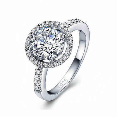Silver plated cubic zirconia Wholesale Jewelry Wedding Ring Fashion