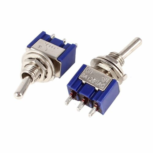 5pcs Mini MTS-102 3-Pin SPDT ON-ON 6A 125VAC Toggle Switches NEW