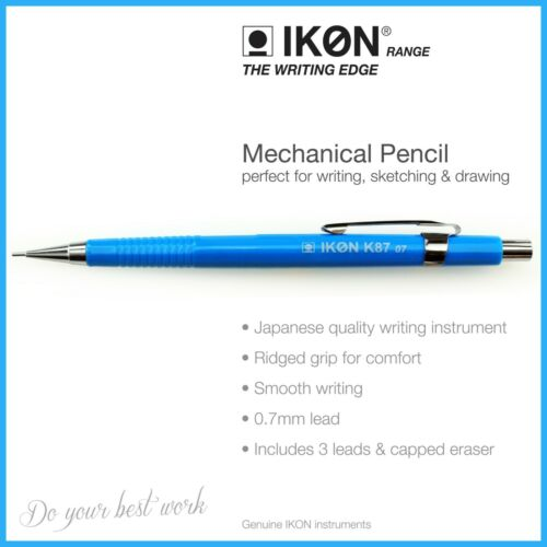 Blue Mechanical Pencil 0.7mm HB Lead Automatic K87 Drafting,Sketching,Drawing