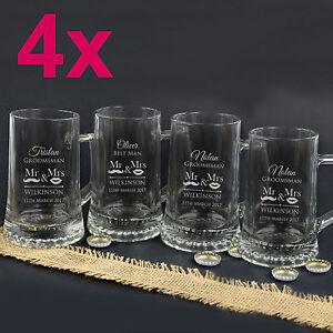 Personalised Wedding Mugs Australia : ... Glasses > See more 4x Engraved 500ml Beer Mugs Personalised Weddi