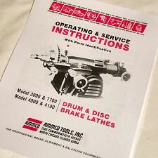 Ammco Operating Service Amp Parts Manual 3000 4000 4100 7700 Brake Lathes