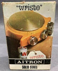 """Vintage Aitron """"Wristo"""" Solid State Transistor Wrist Radio Boxed"""