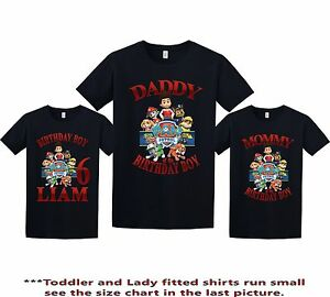 Image Is Loading Paw Patrol Birthday Shirt Custom Personalized T