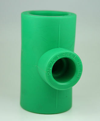 5x PPR Aqua Plus Reduzier T Stück 32 x 32 x 25 Fusiotherm Wasserleitung