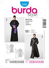 BURDA 2388 SCHNITTMUSTER KOSTÜM KARNEVAL FASCHING HERREN MANTEL PRIESTER MATRIX