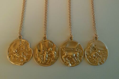 Gold Zodiac Constellation Star Sign Necklace Other Bloggers Stories Coin