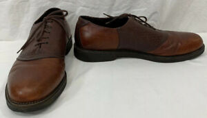 H-S-Trask-Saddle-Shoes-Mens-Brown-Buffalo-Leather-Oxford-Lace-Up-US-Size-14