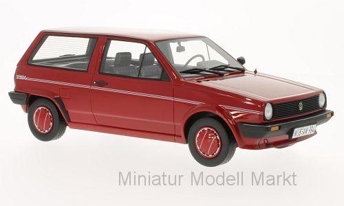 055 - Bos VW Polo II  tipo 86c  BERLINA Fox-rosso - 1986 - 1:18