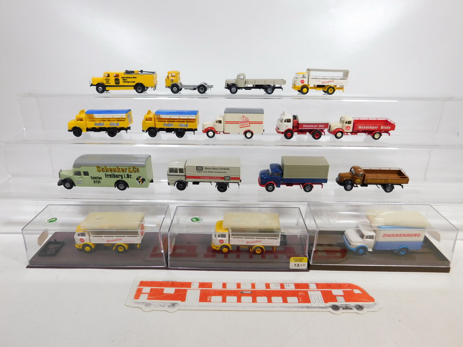 CA394-1 16x Brekina 1 87 H0 Camion MB  4808+ DB +Schenker +Henninger ECC,2